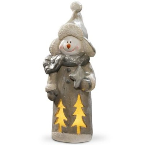 National Tree Company 18-Inch Lighted Holiday Snowman Decoration in White