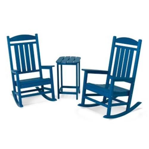 POLYWOOD 3-piece Presidential Rocking Chair & Table Set - Outdoor