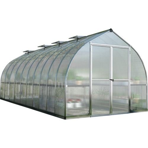 Palram Bella Hobby Greenhouse  20ft. x 8ft., Silver Frame, Model# HG5420