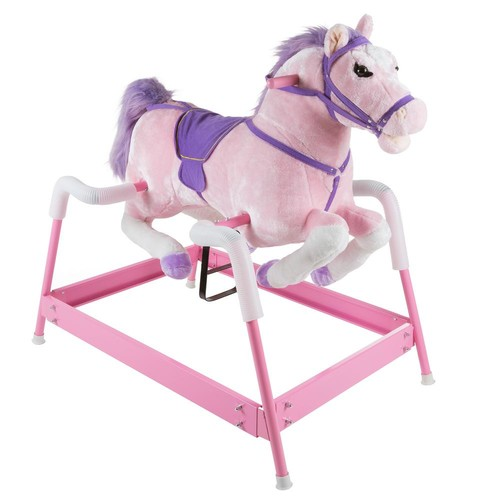 Happy Trails Plush Pink Rocking Spring Holly Horse