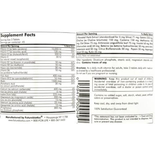 Future Biotics FutureBiotics Hair Skin and Nails - 135 Tablets