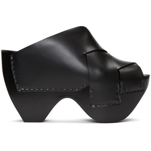 ACNE STUDIOS Black Callie Platform Mules