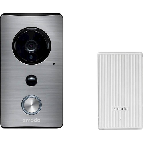 Zmodo - Greet Wi-Fi Video Doorbell with Beam Smart Home Hub and Wi-Fi Extender