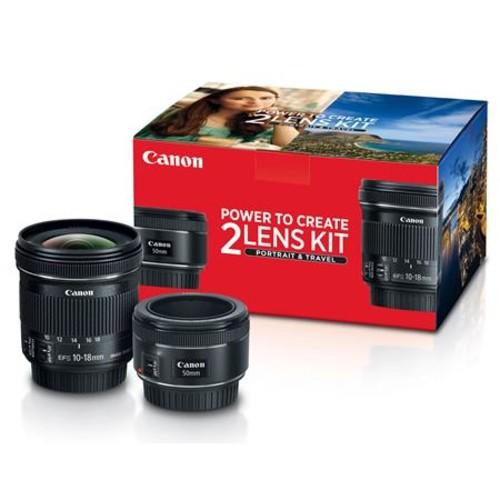 Canon 2 Lens Kit w/EF 50mm f/1.8 STM & EF-S 10-18mm f/4.5-5.6 w/Free Acc Bundle