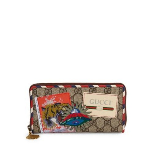 GUCCI Gg Courier Zip-Around Wallet