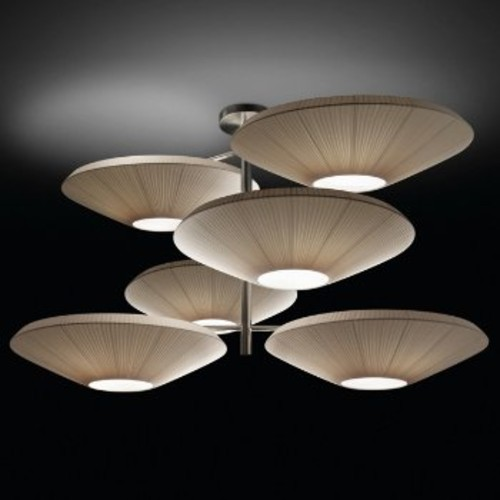 Siam Chandelier [Shade Color : White Ribbon; Number of Lights : 4]
