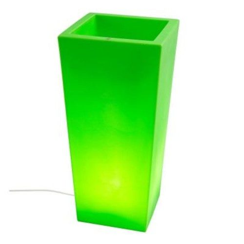 Filament Design Twist Production 32 in. Apple Green Outdoor Lighted Planter