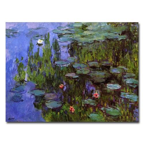 Trademark Fine Art Claude Monet 'Sea Roses' Canvas Art 24x32 Inches