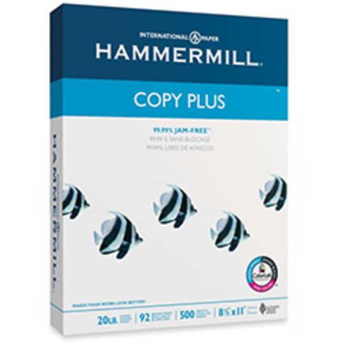Hammermill Copy Plus Paper, 20Lb, 92 GE/102 ISO, 8-1/2