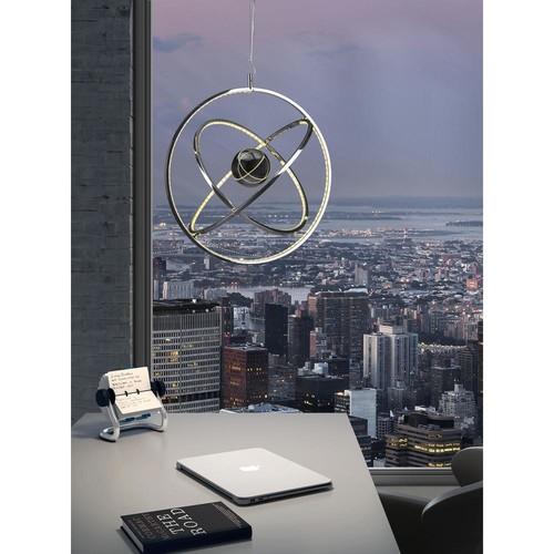 ZUO Kaweah Chrome LED Ceiling Lamp