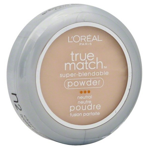 L'Oreal True Match Super-Blendable Powder, Neutral, Classic Ivory N2, 0.33 oz (9.5 g)