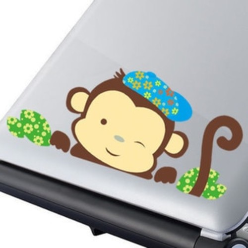 Home Source 'Monkey Wink' 28-inch x 10-inch Multicolored Wall Decal
