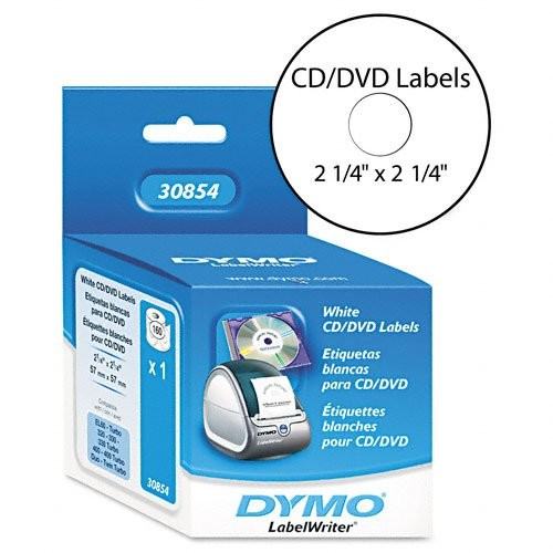 DYMO Labelwriter Labels CD DVD 2.25IN Diameter, 160 Labels Per Roll, 1 Roll Per