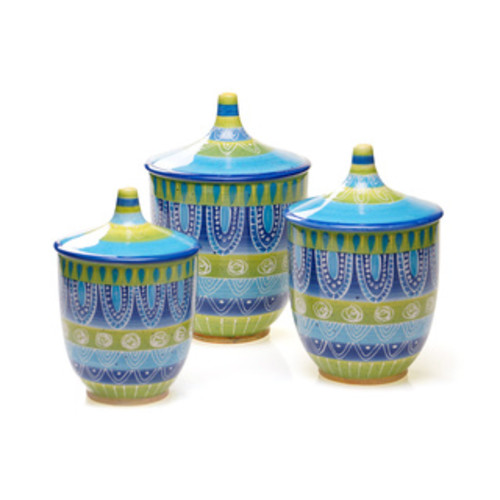 Certified International Ceramic Kitchen Canisters Tapas 11-inch Biscuit Jar