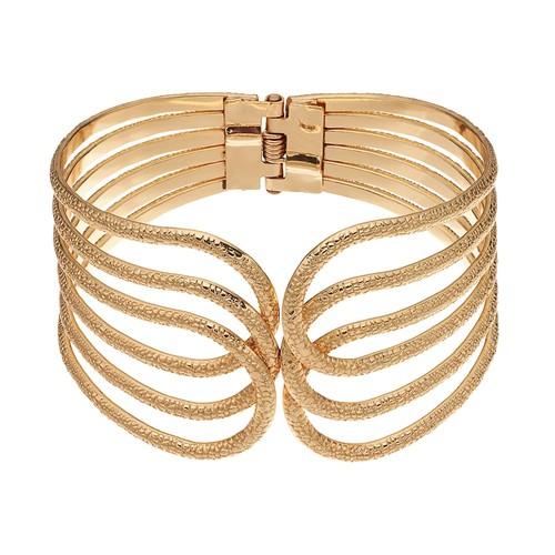 Loop Hinged Bangle Bracelet