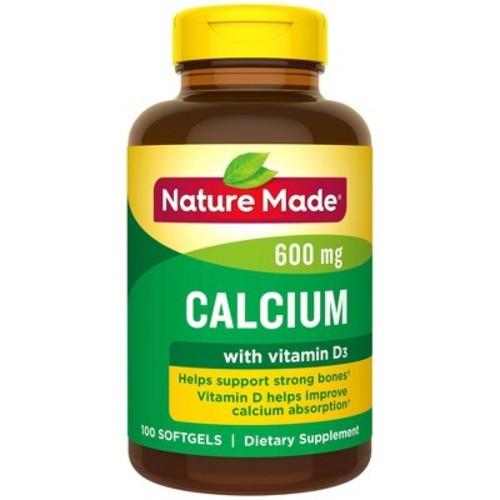 Nature Made Calcium Dietary Supplement Liquid Softgels - 100ct