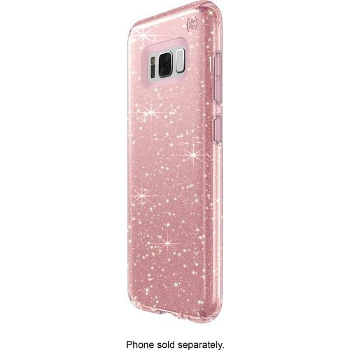 Speck - Presidio Case for Samsung Galaxy S8 - Clear/gold/rose pink