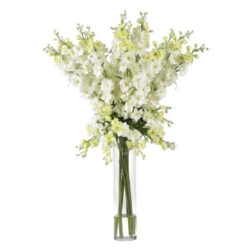 Delphinium Silk Flower Arrangement, White