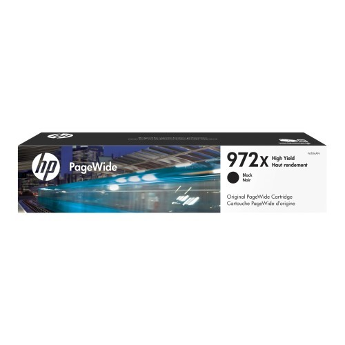 HP Inc. 972X - 182.5 ml - High Yield - black - original - PageWide - ink cartridge - for PageWide Pro 452dn, 452dw, 452dwt, 477dn, 477dw, 477dwt, 552dw, 552dwt, 577dw, 577z (F6T84AN)