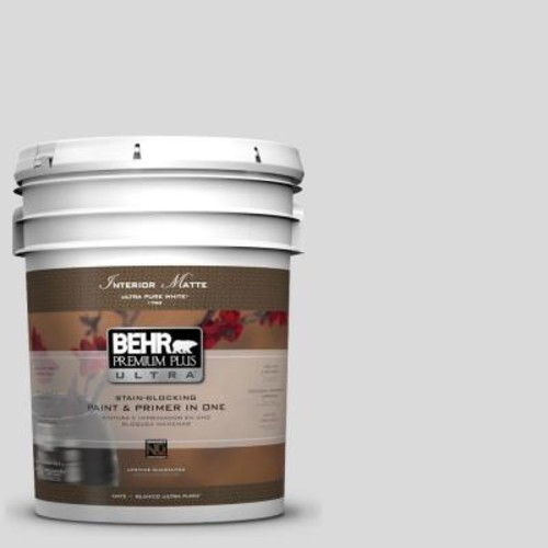 BEHR Premium Plus Ultra 5 gal. #790E-1 Subtle Touch Matte Interior Paint and Primer in One