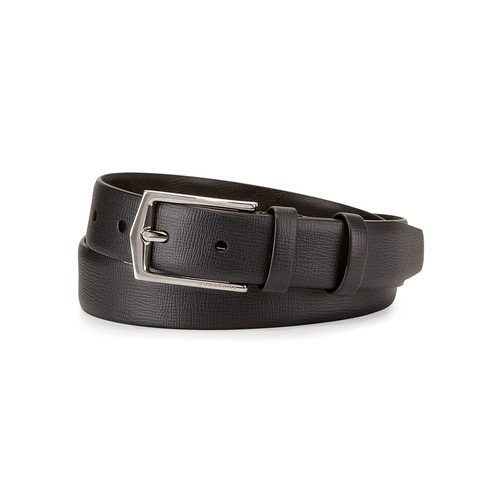 BURBERRY London Leather Dress Belt, Black