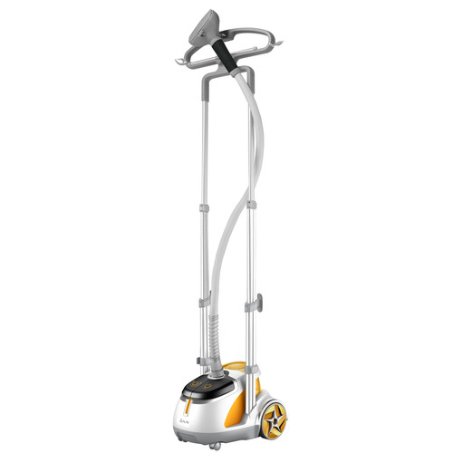 SALAV GS45-DJ Orange Professional Series Dual Bar Garment Steamer with Foot Pedals,