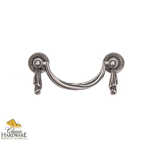 Classic Hardware Bosetti Marella Louis XVI 3.31 in. Old Iron Drop Pull