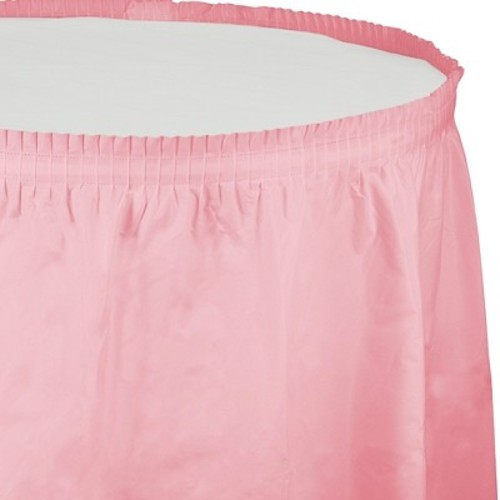 Creative Converting Plastic Table Skirt, 14-Feet, Candy Pink
