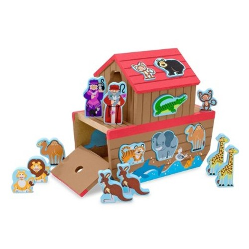 Melissa & Doug Noah's Ark Wooden Shape Sorter Educational Toy (28pc)