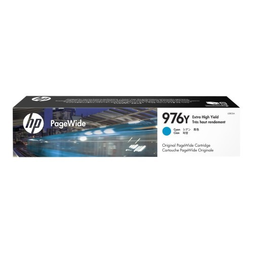 HP Inc. 976Y - 167 ml - Extra High Yield - cyan - original - ink cartridge - for PageWide Pro 552dw, 577dw, 577z (L0R05A)