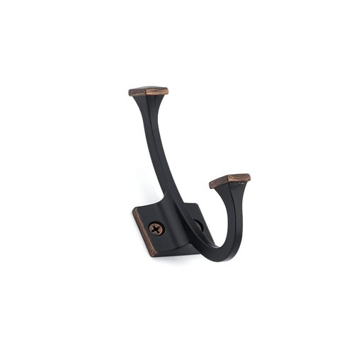 Richelieu Hardware 4-3/8 in. (111 mm) Brushed Oil-Rubbed Bronze Decorative Hook