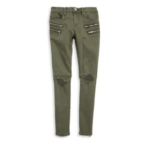 Girl's Distressed Skinny Jeans
