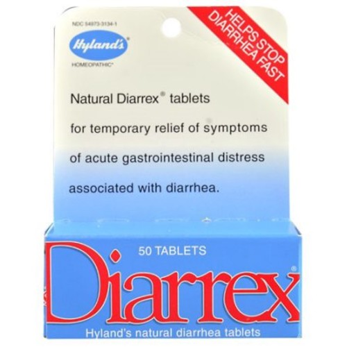 Hylands Diarrex Tablets, Natural Relief of Diarrhea Symptoms, 50 Quick Dissolving Tablets