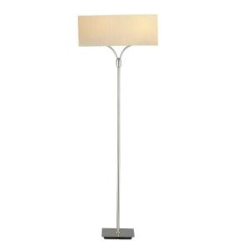 Adesso 61 in. Satin Steel Wishbone Floor Lamp
