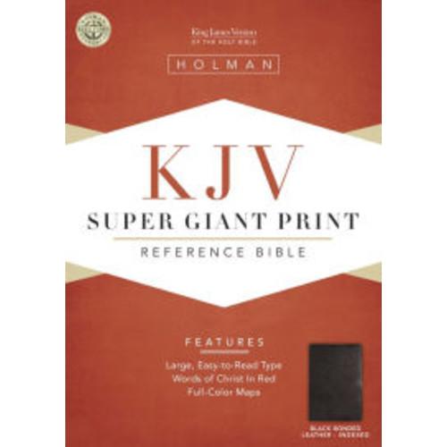 KJV Super Giant Print Reference Bible, Black Bonded Leather Indexed