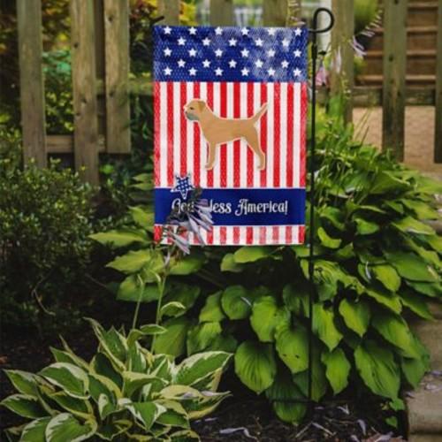 Caroline's Treasures Patriotic USA Border Terrier 2-Sided Garden Flag