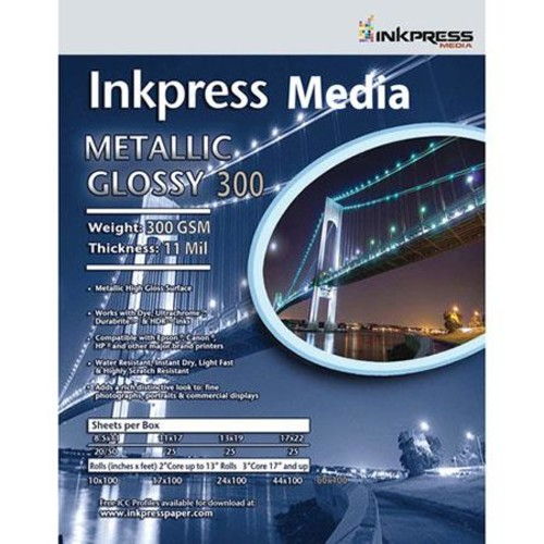Inkpress Metallic 300 High-Gloss Photo Paper(36