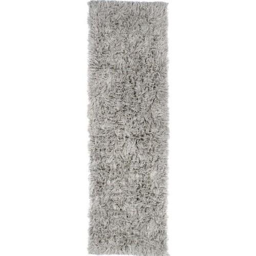 nuLOOM 3' x 5' Hand Woven Genuine Greek Flokati Rug in Natural Gray