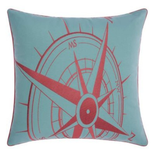 Mina Victory Compass Indoor / Outdoor Throw Pillow