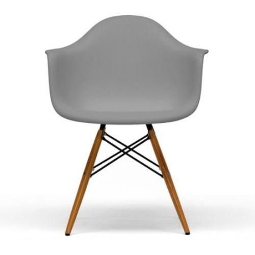 Baxton Studio Pascal Plastic Mid-Century Modern Shell Chair, Beige, Set of 2 [Beige, 23.2Lx24.2Wx31.2H]