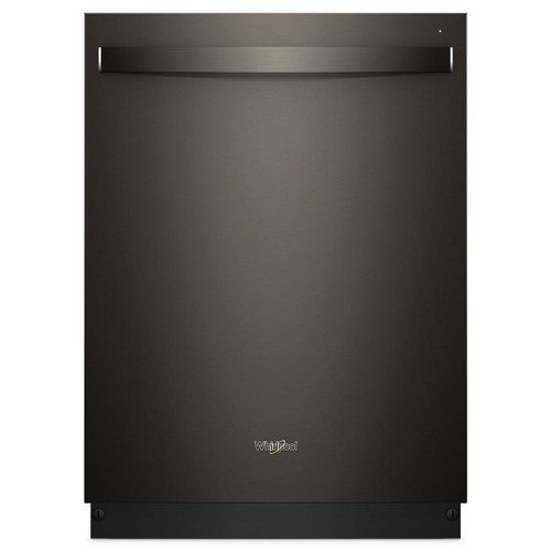 Whirlpool Top Control Built-In Tall Tub Dishwasher in Fingerprint Resistant Black Stainless with Stainless Steel Tub