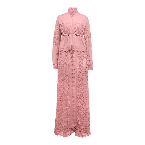 FENTY PUMA BY RIHANNA Tricot Zip-Off Maxi Coat, Pink