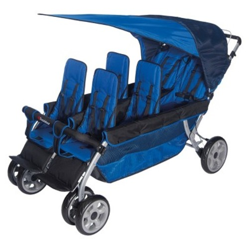 Foundations Worldwide Foundations Regette Blue 6 Passenger Stroller, LX6 [Blue]