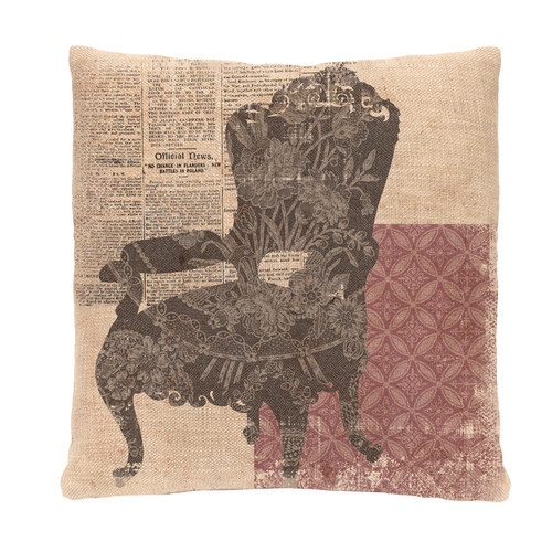 Silhouettes Queen Anne Chair Pillow Cover