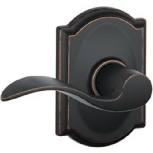 Schlage Camelot Collection Accent Aged Bronze Hall and Closet Lever-F10 V ACC 716 CAM