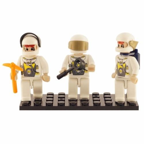 Building Block Mini-Figurines Set - Space Team (Set of 3)