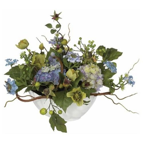 Nearly Natural Hydrangea Centerpiece Blue