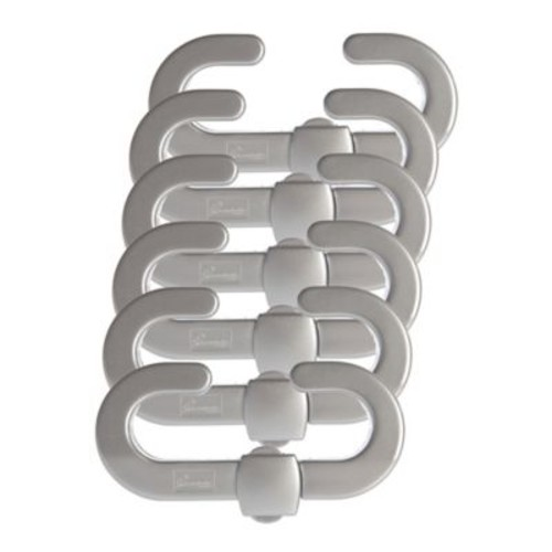 Dreambaby 6-Pack Secure-A-Lock in Silver