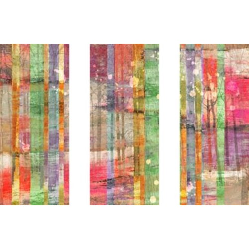 Marmont HIll 'Multi-Season Trees Triptych' Painting Print on Wrapped Canvas; 24'' H x 36'' W