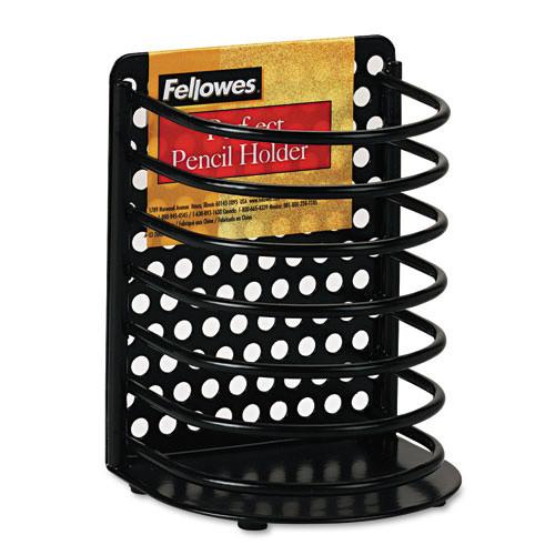 Fellowes Pencil Holder, Wire, Black (FEL22307)
